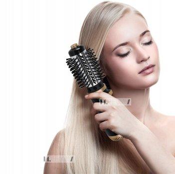 Фен щетка расческа с вращающейся насадкой для укладки и завивки волос Rozia 1000W (HC8112)