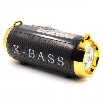 Портативная колонка блютуз и радио беспроводная с солнечной панелью и фонариком Golon RX-BT180S Bluetooth AUX, USB, TF, FM