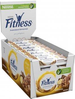 Упаковка батончиков злаковых Fitness с кусочками шоколада и банана и минеральными веществами 24 шт х 23.5 г (5900020034007)