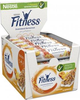 Упаковка батончиков злаковых Fitness с Персиком и абрикосом, витаминами и минеральными веществами 16 шт х 23.5 г (5900020030610)