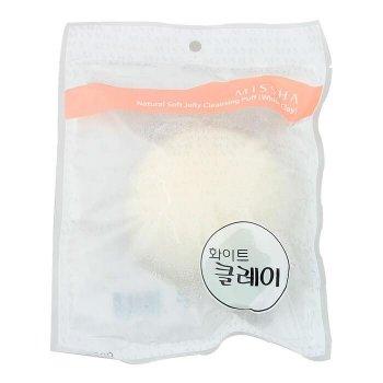 Спонж конняку з білою глиною MISSHA Soft Jelly Cleansing Puff - White Clay білий