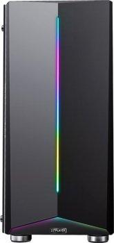Корпус 1stPlayer R6-A-3R1 Color LED Black без БП