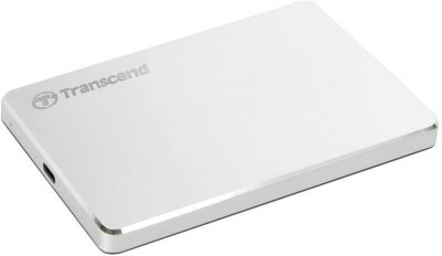 """Накопичувач зовнішний HDD 2.5"""" USB 2.0TB Transcend StoreJet 25C3S Silver (TS2TSJ25C3S)"""