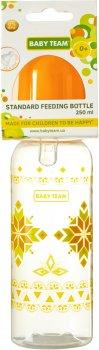 Бутылочка для кормления с силиконовой соской Baby Team 250 мл Оранжевая (1410_Оранжевая)