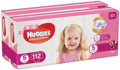 Підгузки Huggies Ultra Comfort 5 Mega для дівчаток 112 шт (56x2) (5029054218129)