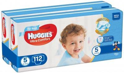 Підгузки Huggies Ultra Comfort 5 Mega для хлопчиків 112 шт (56x2) (5029054218136)
