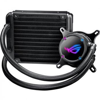Система водяного охлаждения Asus ROG Strix LC 120 (ROG-STRIX-LC-120), Intel:1150/1151/1152/1155/1156/1366/2011/2011-3/2066, AMD:AM4/TR4, 150x121x27мм, 4-pin