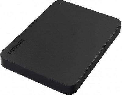 """Накопитель внешний HDD 2.5"""" USB 2.0TB Toshiba Canvio Basics Black + USB-C адаптер (HDTB420EK3ABH)"""
