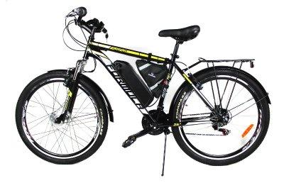 Электровелосипед Magnum 26 колесо 36В 350Вт 13ч литий ионный аккумулятор черный с желтым