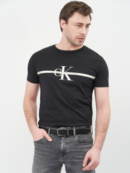 Мужской ремень кожаный Calvin Klein Jeans Adj/Rev Two-Finish Fac Saf 35M K50K506879-00U 90 см Black Mono Mix (8719853770894)