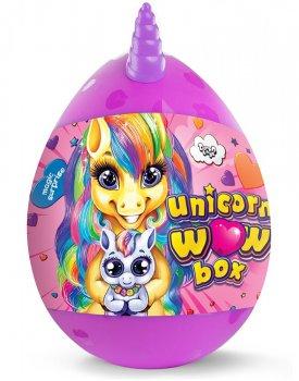 Набор для творчества Danko toys Unicorn WOW Box, яйцо единорог, 24 предмета