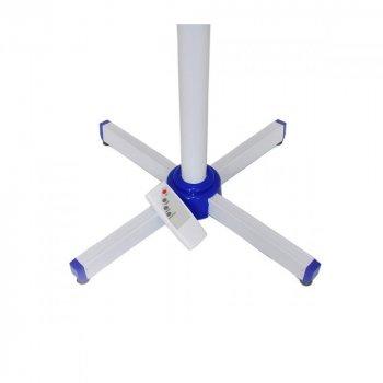 Підлоговий вентилятор Domotec MS-1621 лопатевої побутової з пультом 40 Вт, 3 швидкості роботи, Білий