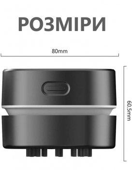 Портативный мини-пылесос Dooda для рабочего стола и очистки от крошек клавиатуры / дома / школы / офиса, черный (DOD-065A01)