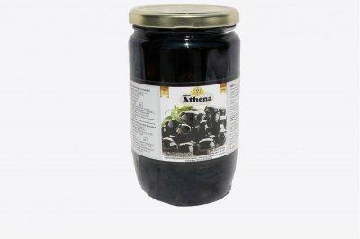 Оливки Athena чорні без кісточки скло 700/360 гр.