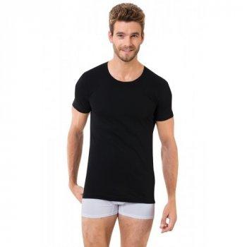 Чоловіча футболка Oztas 1005-A чорна 100% бавовна кулір