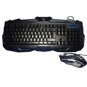Комплект провідної ігрова клавіатура і миша V100 6945 з LED підсвічуванням (gr_011535)