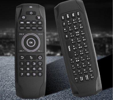 Пульт Air Mouse G7 Black клавиатура с гироскопом и подсветкой