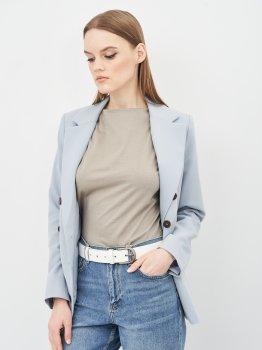 Женский ремень кожаный Sergio Torri 16-0063 біл 125 см Белый (2000000023175)