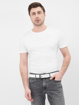 Мужской ремень кожаный Sergio Torri 16-0062 біл 125 см Белый (2000000023168)