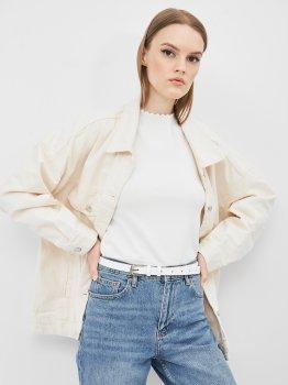 Женский ремень кожаный Sergio Torri 16-0014 біл 125 см Белый (2000000023762)