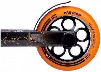 Самокат трюковий з алюмінієвими колесами 2 пеги в комплекті Maraton Champion 21004 Помаранчевий