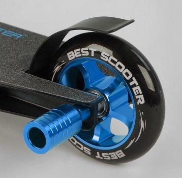 Самокат трюковий з алюмінієвими колесами 2 пеги в комплекті Best Scooter (DIMSA-031-1N), Чорний з синім