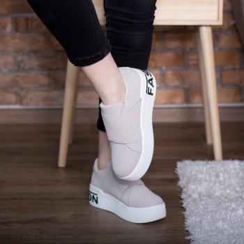 Слипоны женские Shoes Abiah 2733 23.5 см Серый
