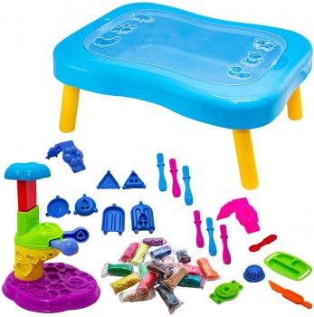 Набор для креативного творчества Strateg Мистер тесто - подарочный чемодан Голубой (71210)