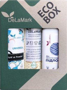 """Набор Delamark """"Все для дома"""" Гель для стирки 1 л + Кондиционер-ополаскиватель 750 мл + Средство для мытья пола 1 л (4820152332462)"""