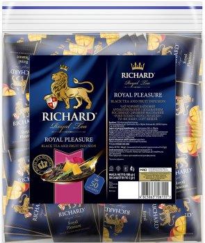 Чай Richard черный байховый Royal Pleasure фруктовый 50 пакетиков (4823063706155)