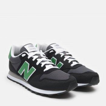 Кроссовки New Balance GM500TN1 Черные с зеленым