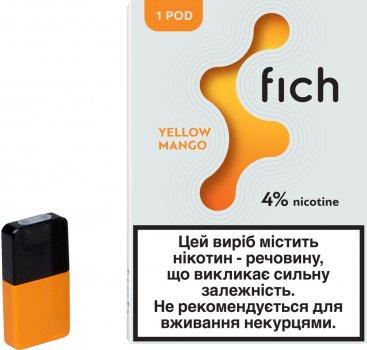 Картридж для POD-систем FICH Pods Yellow Mango 4% 40 мг 0.8 мл (Жовте манго) (6971575731818)
