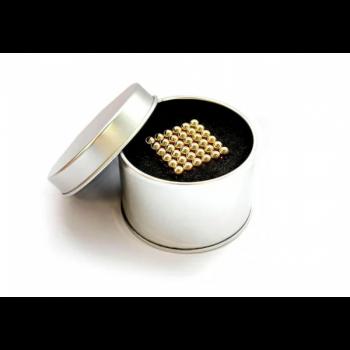 Магнитный конструктор Неокуб золото 216 шт Neocube магнитные шарики антистресс в коробке.