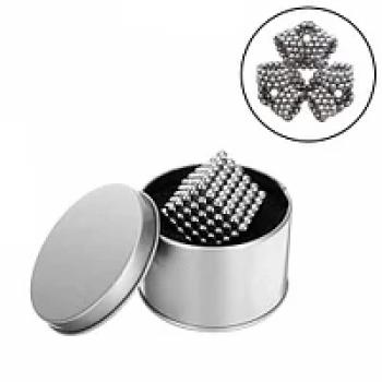 Магнитный конструктор Неокуб серебро 216 шт Neocube магнитные шарики антистресс в коробке.