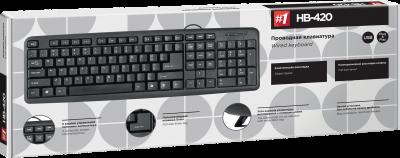 Клавиатура проводная Defender HB-420 USB Black (45420)