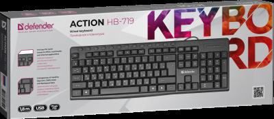 Клавиатура проводная Defender Action HB-719 USB Black (45719)