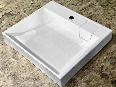 Раковина над стиральной машиной Largo Verona Quadro 60х52 белая
