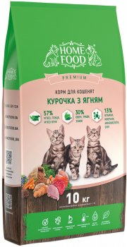 Сухой корм для котят Home Food Курочка с ягненком