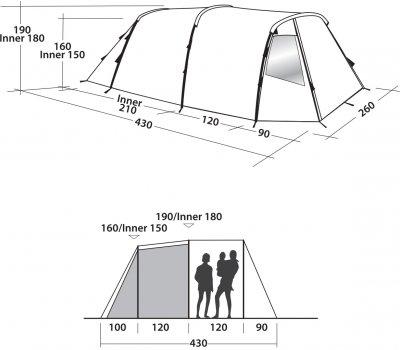 Палатка Easy Camp Huntsville 400 Red (928895)