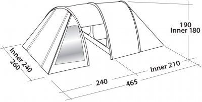 Палатка Easy Camp Galaxy 400 Rustic Green (928902)