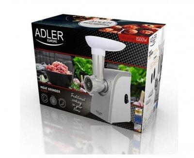 Электрическая мясорубка оснащена тремя сменными ситами Adler Ad 4808