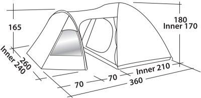 Палатка Easy Camp Blazar 400 Gold Red (928905)