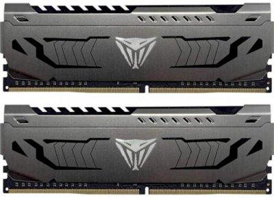 Пам'ять DDR4 8Gb x 2 (16Gb Kit), 3200 MHz, Patriot Viper Steel Gray (PVS416G320C6K)