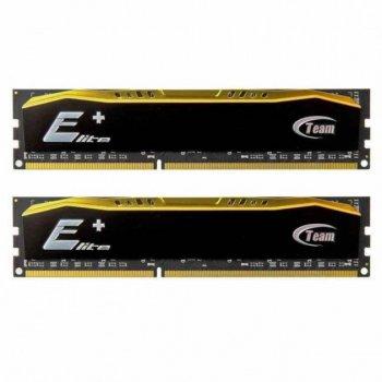 DDR4 4Gb x 2 (8Gb Kit) 2400 MHz (PC4-19200), Team Elite Plus, 16-16-16-39, 1.2V, с радиатором (TPD48G2400HC16DC01)