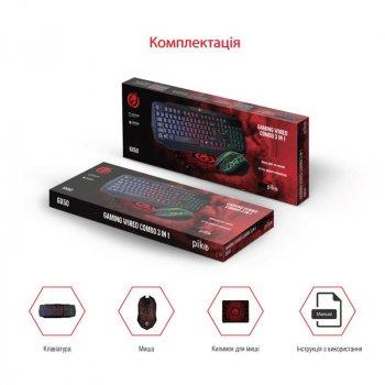 Refurbished Комплект (клавіатура, миша) Piko GX50 Black USB (1283126506208) + килимок