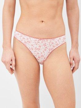 Трусики-бикини U.S. Polo Assn 66238 3 шт Coral Flowered/Grey Melange/Coral Print