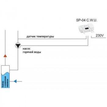 Автоматика для циркуляційного насоса STEROWNIK KG Elektronik SP-04