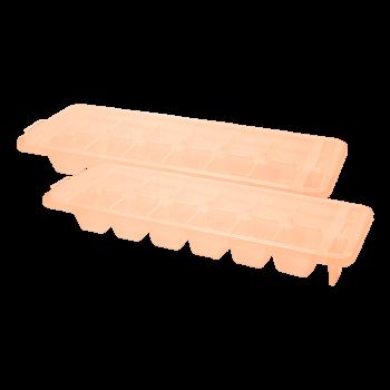 Форма для льда Premium 2 шт оранжевая Irak Plastik