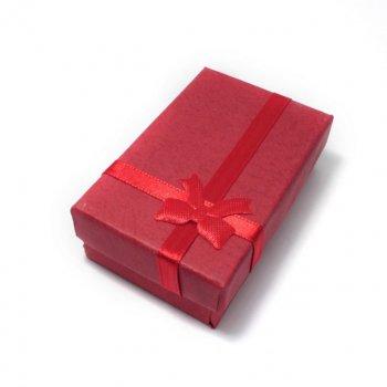 Подарункова коробочка Прямокутна з бантиком DiaDemaGrand Бордовий (110035-4)