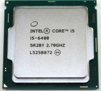Процессор Intel Core i5-6400 (S1151/4x2.7GHz/8GT/s/6MB/65 Вт/BX80662I56400) Б/У
